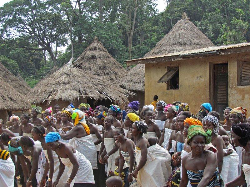 Village celebration, Odienne