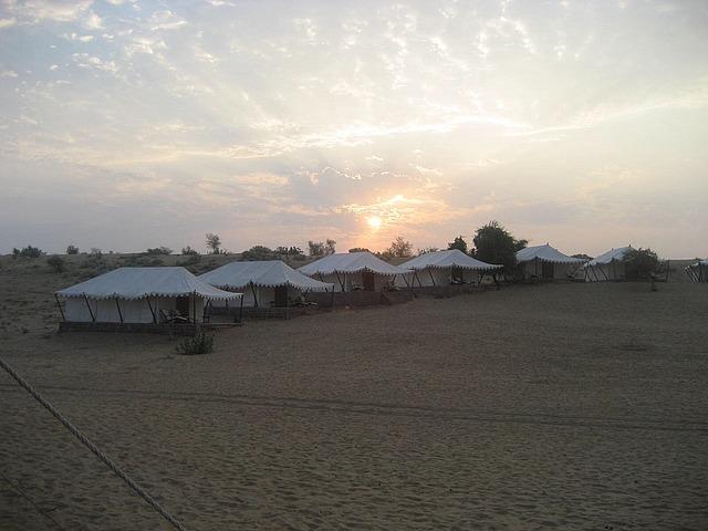 Sunrise in our desert retreat