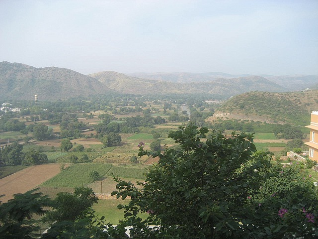 Hill top hotel in Udaipur