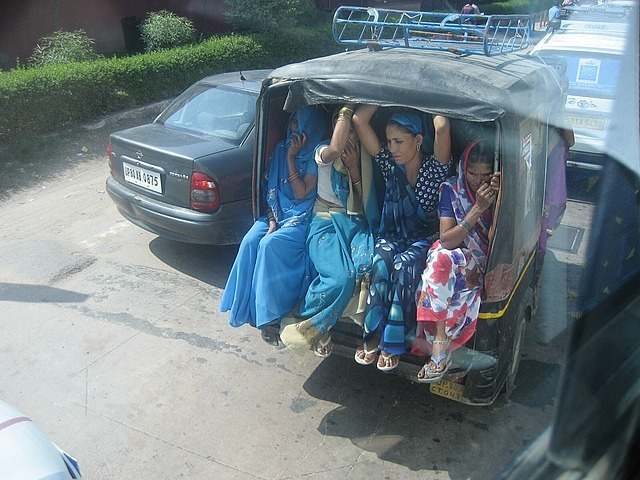Crowded taxi to save on toll costs