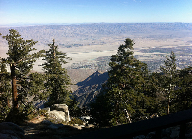 View of Palm Springs from the top of the cable car