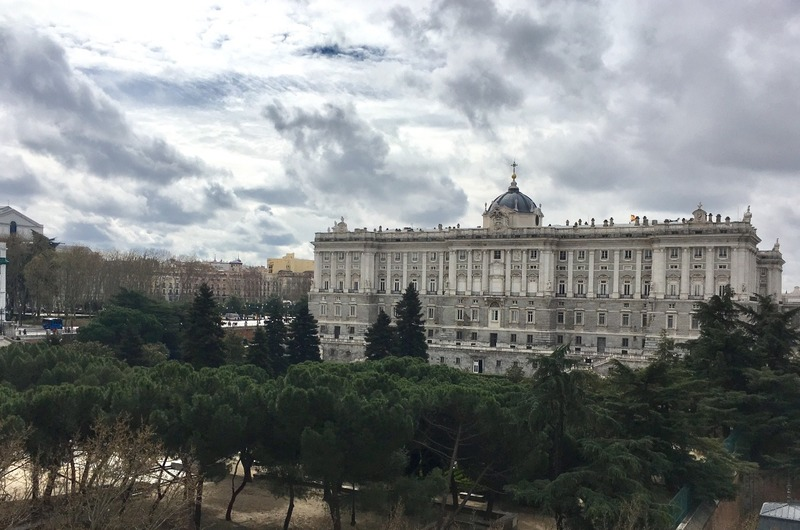Pallacio Real from our roof garden