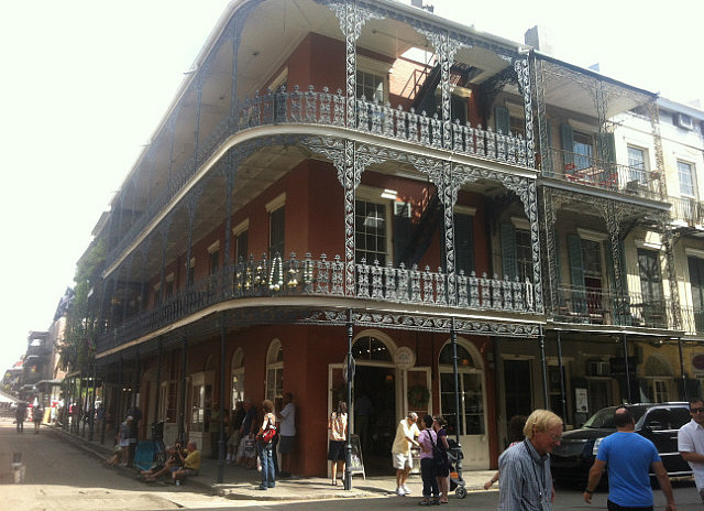 The wrought iron 'galleries' of the French Quarter