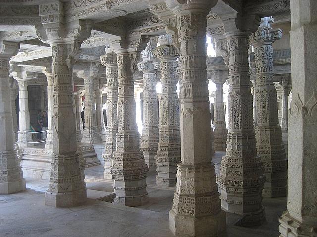 Unique columns in Jain temple