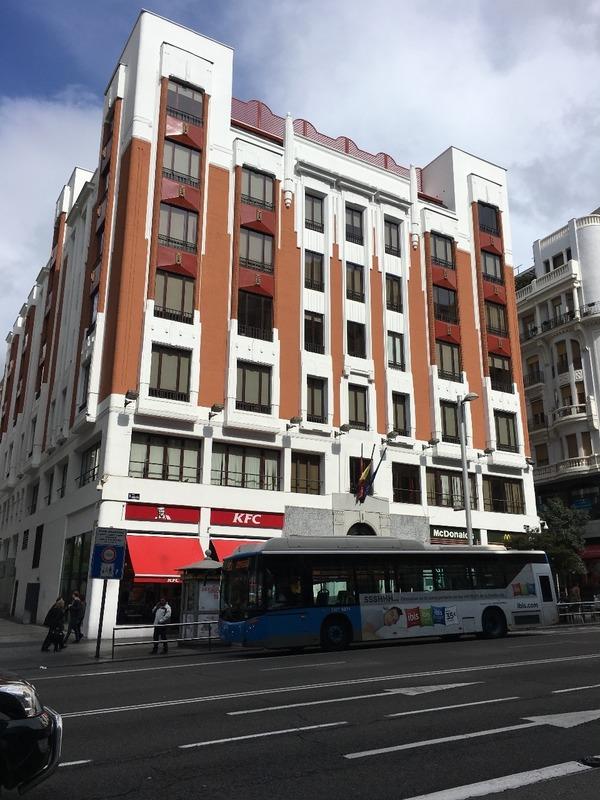 Art Deco building in Gran Via