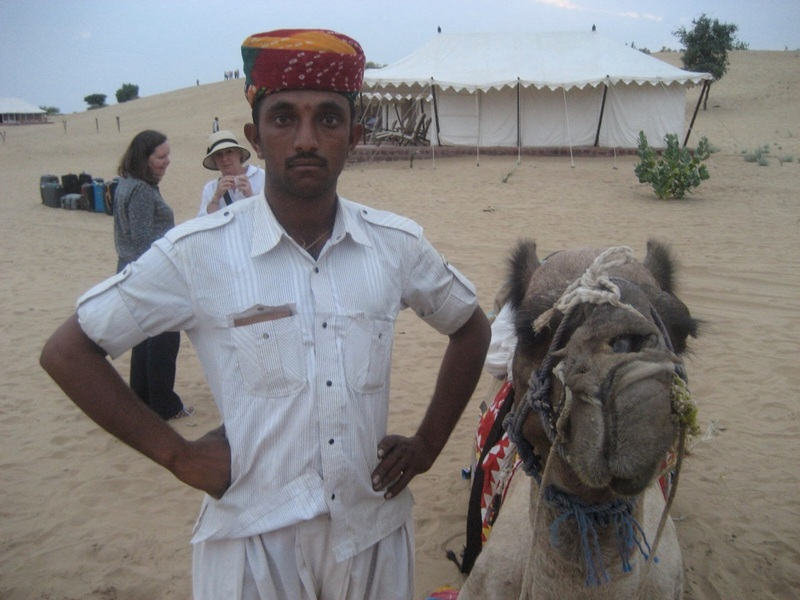 Camel guy and friend