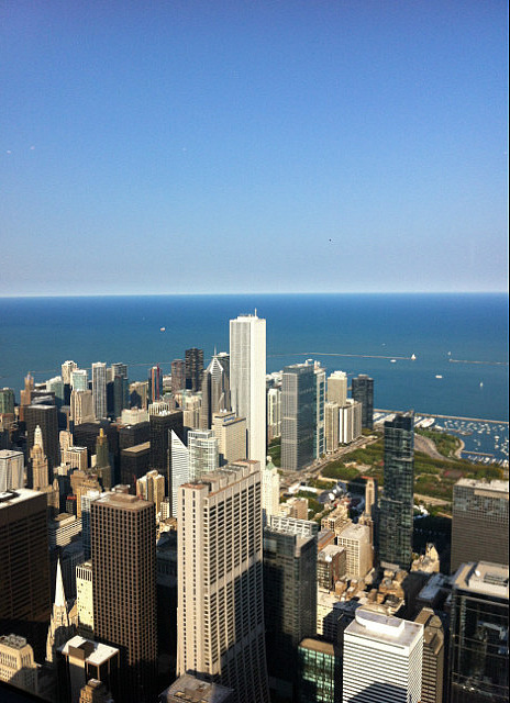 On top of the Willis tower