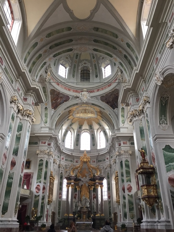 Inside church