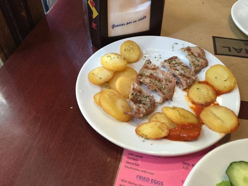 Pork and potatoes tapas