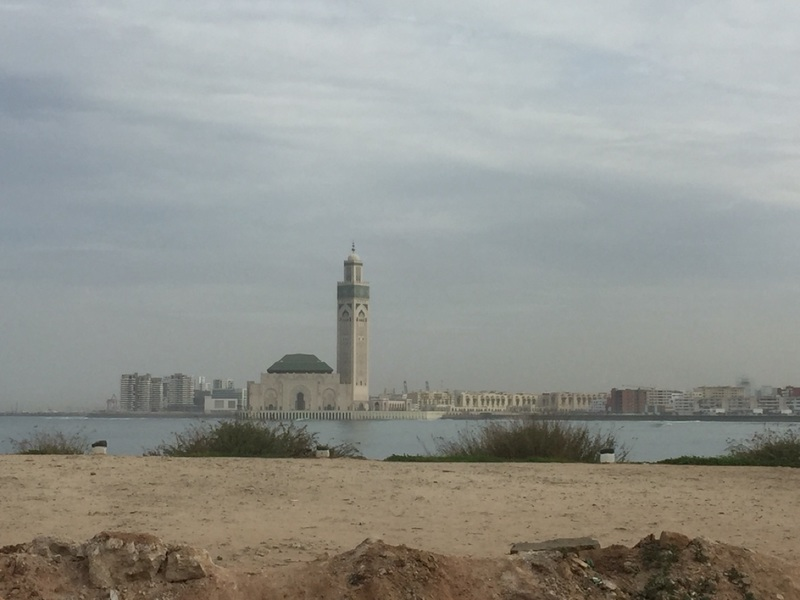 Long view of Hassan ll Mosque