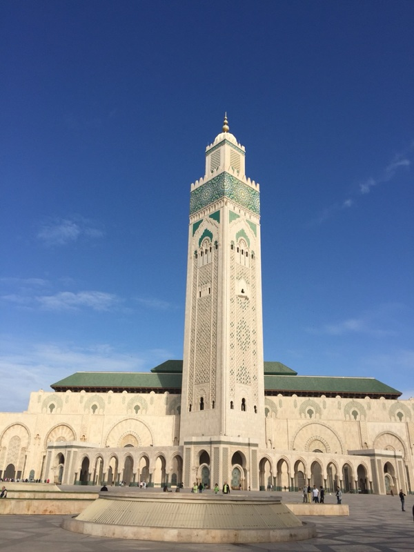 Part of the Hassan ll Mosque