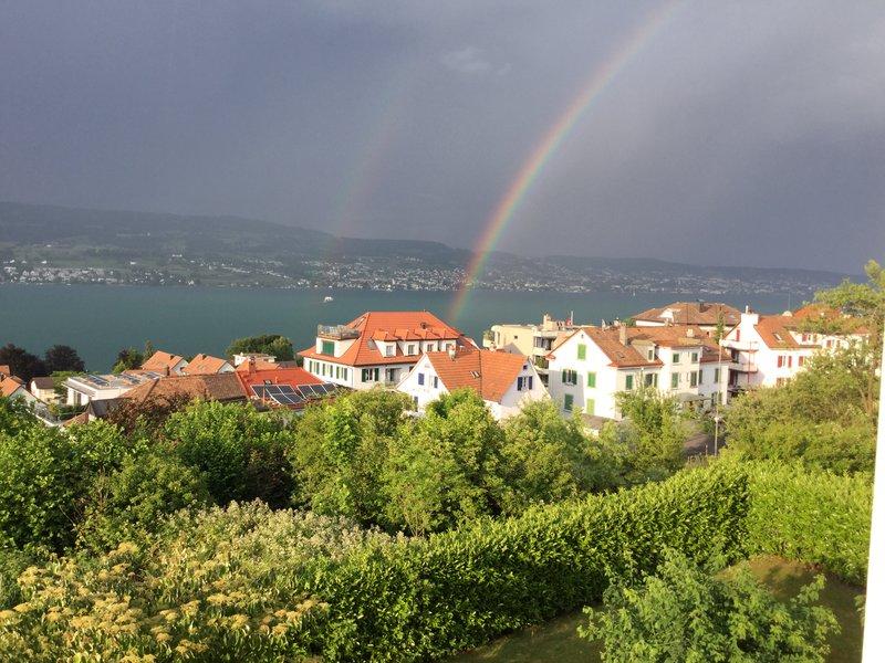 Rainbow over Lake Zurich