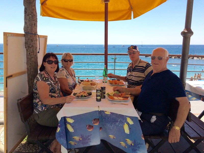 Lunch at Monterossi Del Mare