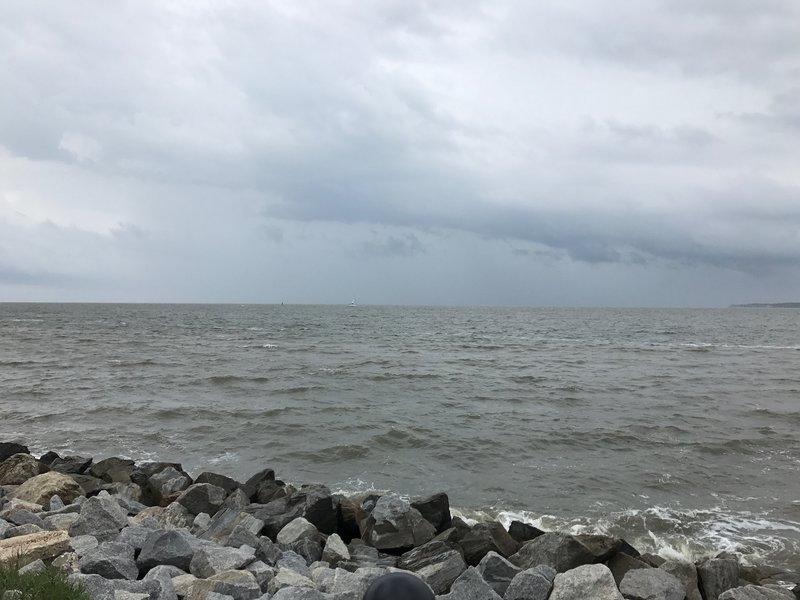 Rain threatens St. Simons Island, GA
