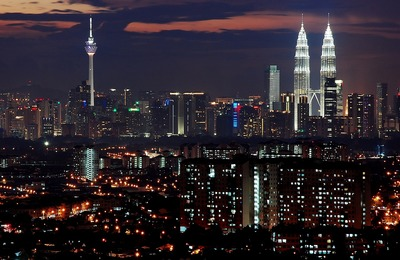 Night view of KL