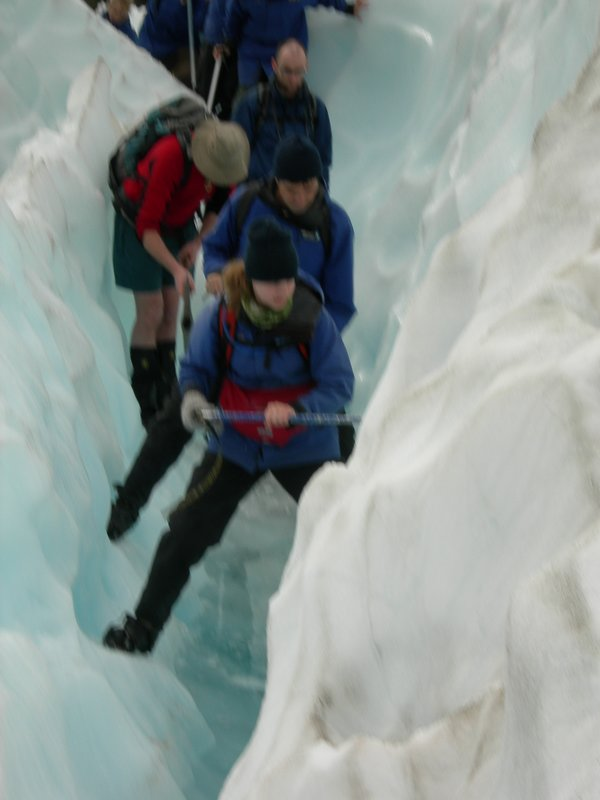 Negotiating the glacier