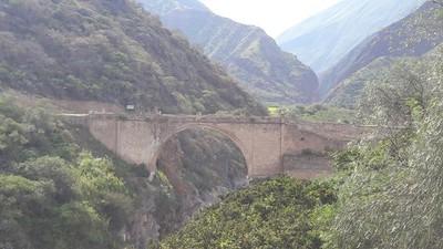 Pachachaca Colonial Bridge in Abancay
