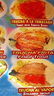 Copacabana Trout Specialties