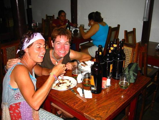 With Sarah at a Granada restaurant