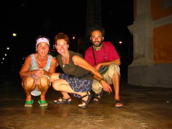 Sarah, Kiko and I in Granada
