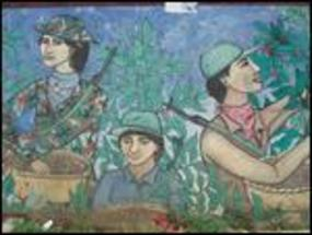 Sandinista Coffee Picker Mural in Jinotega