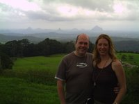 Paul and Jess at Glasshouse Mountains