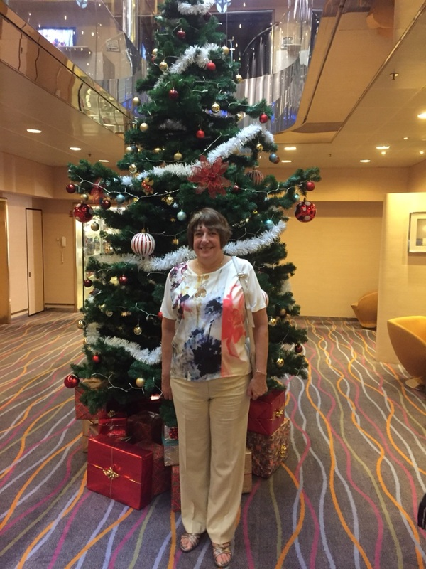 At one of the Xmas trees