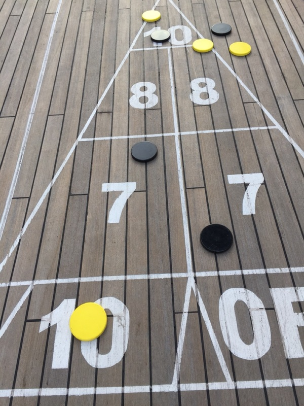 My wonderful shuffleboard shot.