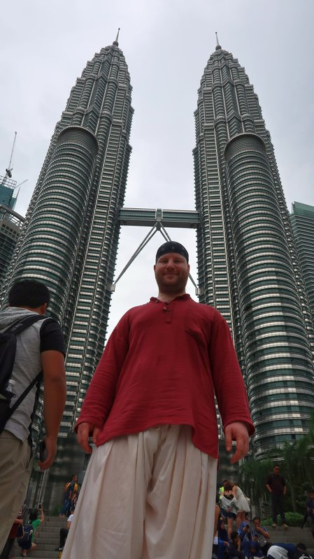 Kuala Lumpur tourist picture time at the Petronas Twin Towers.