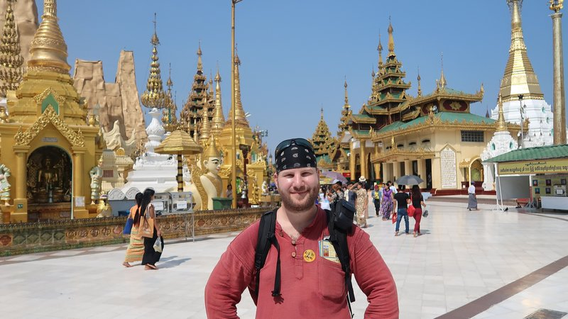 The magnificent Shwedagon Pagoda in Yangon, Myanmar.