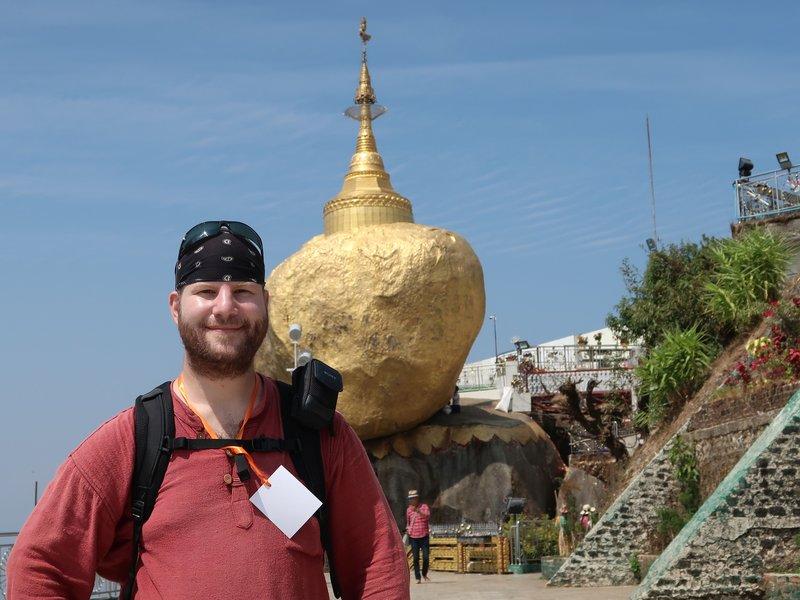 The Golden Rock in Myanmar.