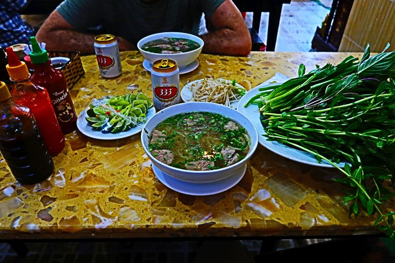Pho in Saigon, Vietnam.