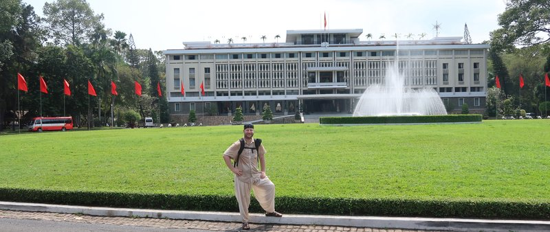 The Independence Palace in Saigon, Vietnam, the office of the South Vietnamese President during the Vietnam war.