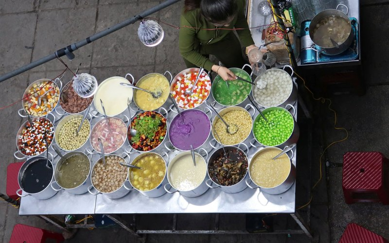 Sweet stuff at the night market in Hue, Vietnam.