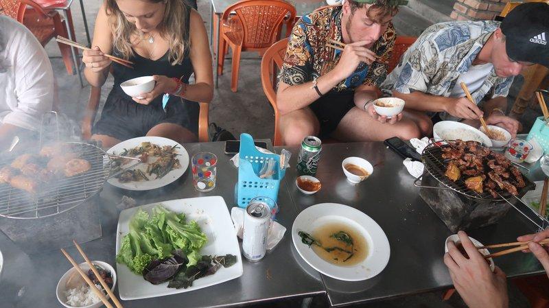 Vietnamese BBQ in Hue, Vietnam.