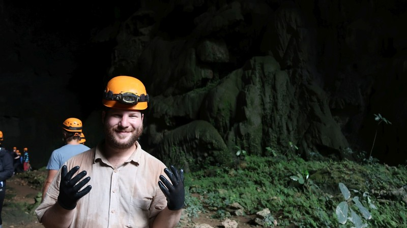 Caving in the Elephant Cave, Phong Nha National Park, Vietnam.