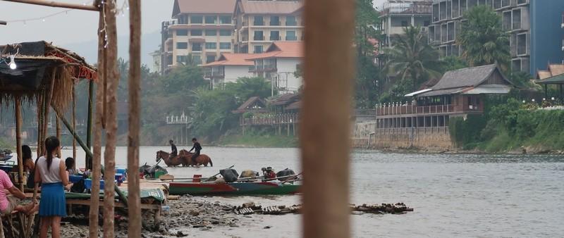 Nam Song River in Vang Vieng, Laos.