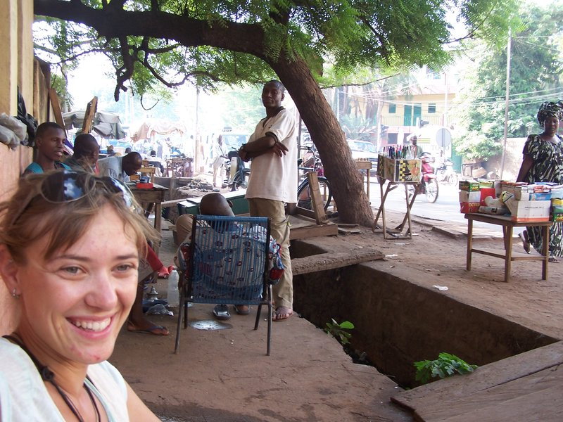 Buying a stamp in Bamako