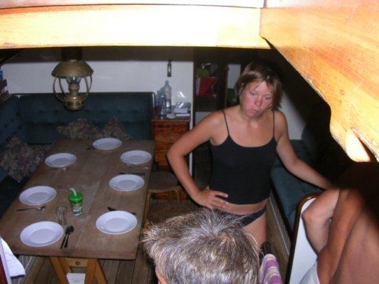 Dinner onboard