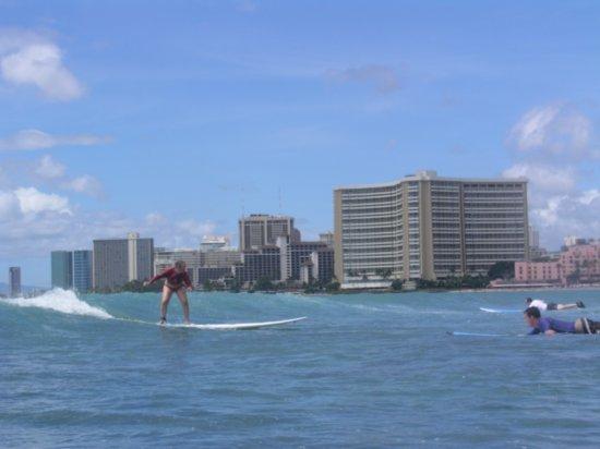 Surfing Waikiki 92