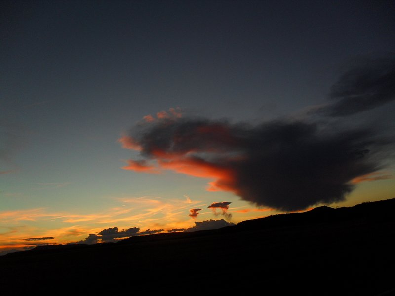 Clouds at sunset, shot from NM-325 north of Capulin but south of the volcano, first of two