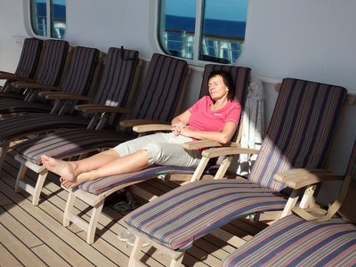 Relaxen am Promenadendeck
