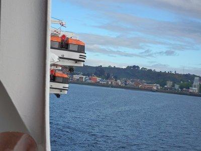 Ausfahren der Tenderboote Puerto Montt