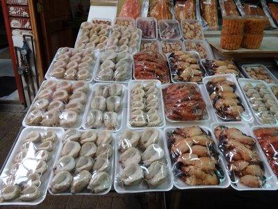 Meerestiere Allerlei am Fischmarkt von Puerto Montt