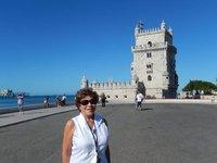 Rosita at Torre de Belem, Lisbon, Portugal