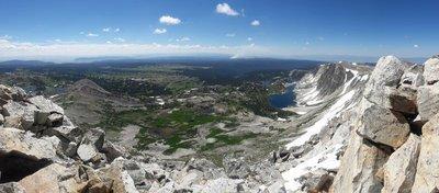 2017-07-15 Medicine Bow Peak hike 09 pano