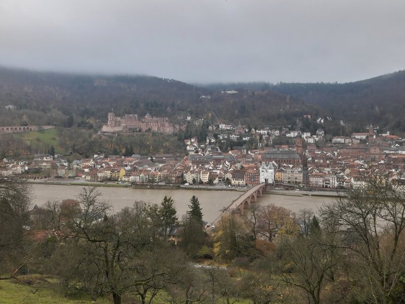 Heidelberg city castle view 20171127