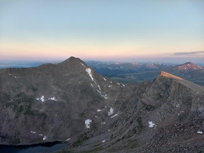 2018-07-08 - Mt Evans - 09 - looking towards Bierstadt and Sawtooth