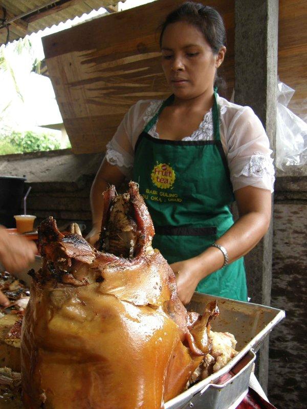 Babi guling beheaded