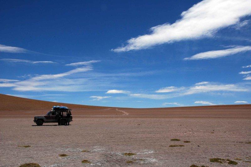 Landcruiser and landscape